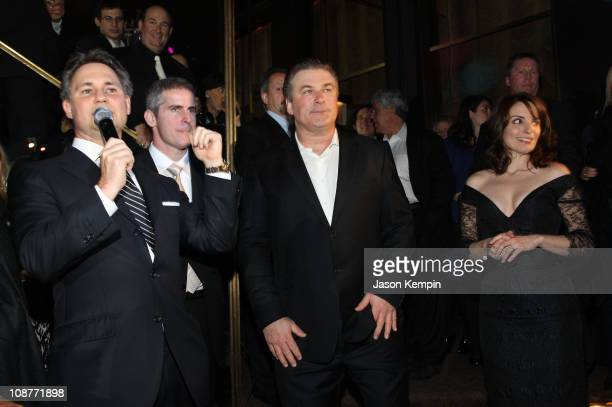 Jason Binn Alec Baldwin and Tina Fey attend Gotham Magazine's Eighth Annual Gala A Black White Affair at The Rainbow Room on February 12 2008 in New...