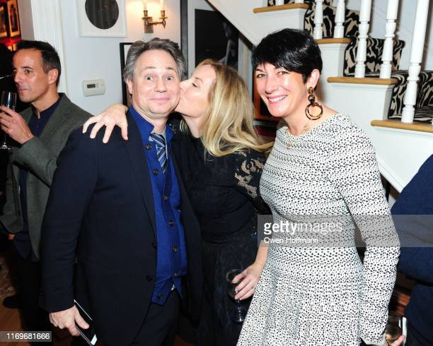 Jason Binn Alice Ryan and Ghislaine Maxwell attend John Demsey Cornelia Guest's Holiday Bash at Private Residence on December 15 2015 in New York City
