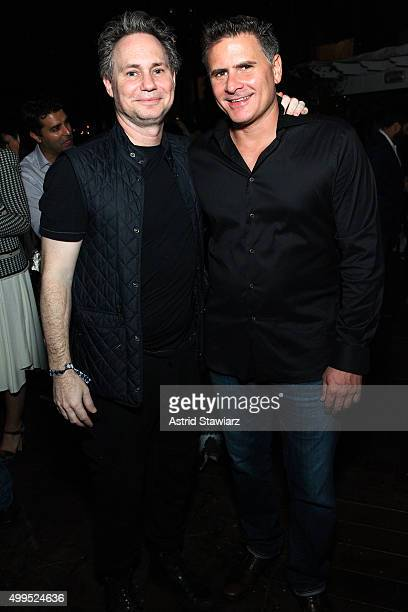 Jason Binn and Andrew Sasson attend DuJour Magazine's Jason Binn Celebrates Annual Art Basel Miami Beach KickOff Party presented by Blackberry PRIV...