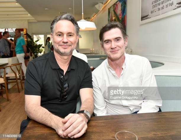 Jason Binn and Billy Crudup attend the DuJour Media's Jason Binn and Naomi Watts Memorial Day KickOff at Brooklyn Chop House at the Capri Hotel on...