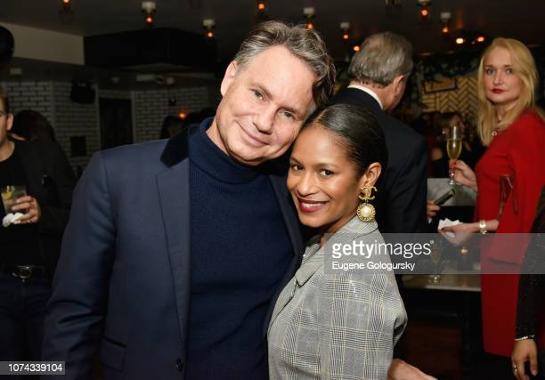 Jason Binn and Iesha Reed attend as DuJour cover star Felicity Jones celebrates their winter issue with CEO and Founder Jason Binn presented by Paul...