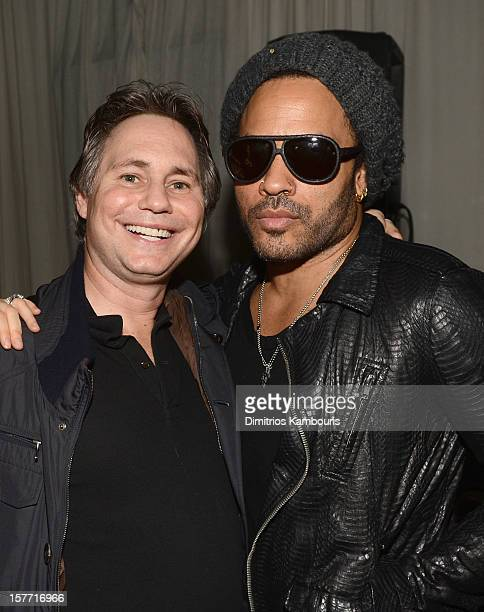 Jason Binn and musician Lenny Kravitz attend a Beachside Barbecue presented by CHANEL hosted by Artsy Founder Carter Cleveland Larry Gagosian Wendi...