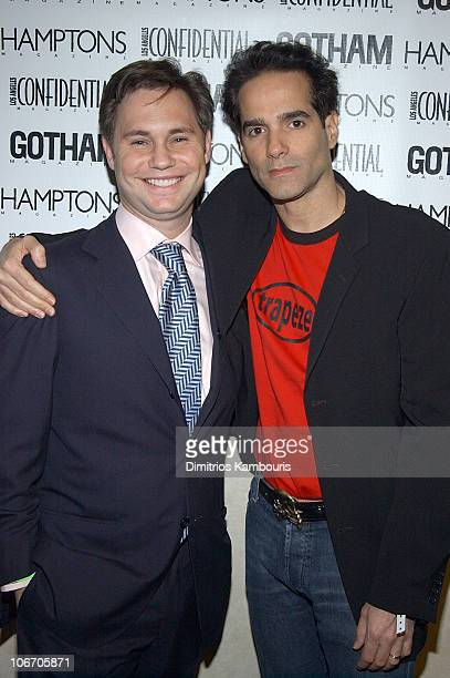 Jason Binn and Yul Vazquez during 1st Annual LAByrinth Theater Company Celebrity Charades Benefit presented by Gotham and LA Confidential Magazine at...