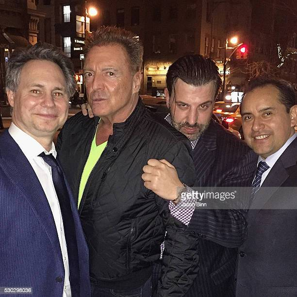 Jason Binn Armand Assante Franco Porporino Jr and Cipriani Manager Milton Calle circa March 2016 in New York City