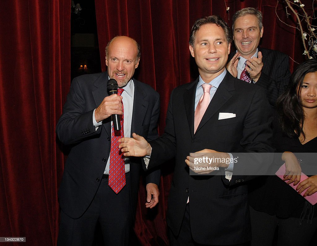 gotham magazine host cocktail reception for cnbc mad money with