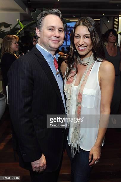 Jason Binn CEO/Founder of DuJour Media and Publicist Shamin Abas attend DuJour Magazine Summer Issue celebrating the Julianne Moore cover on June 10...
