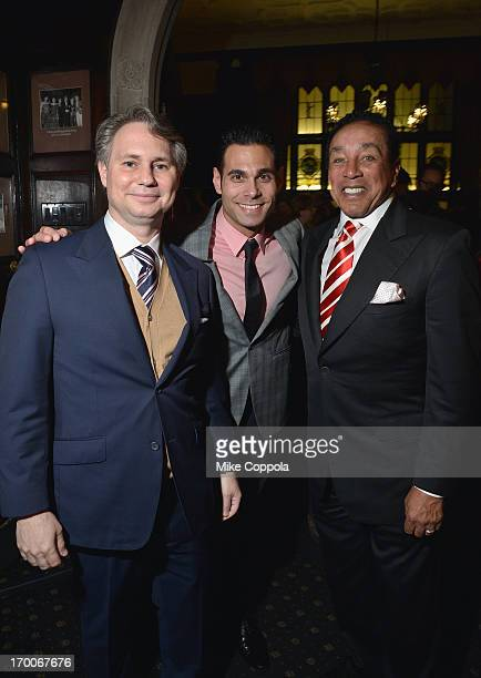 Jason Binn CEO/Founder of DuJour Media Eric Podwall and musician Smokey Robinson attend Jason Binn and DuJour Magazine's Celebration for Matthew...