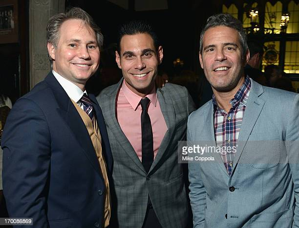 Jason Binn CEO/Founder of DuJour Media Eric Podwall and Television personality Andy Cohen attend Jason Binn and DuJour Magazine's Celebration for...