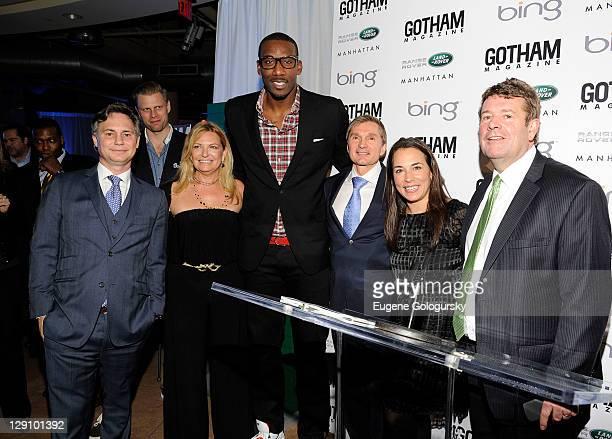 Jason Binn Debra Halpert Amar'e Stoudemire Gary Flom Svitlana Flom Samantha Yanks and Andy Goss attend Gotham Magazine's celebration of its Men's...