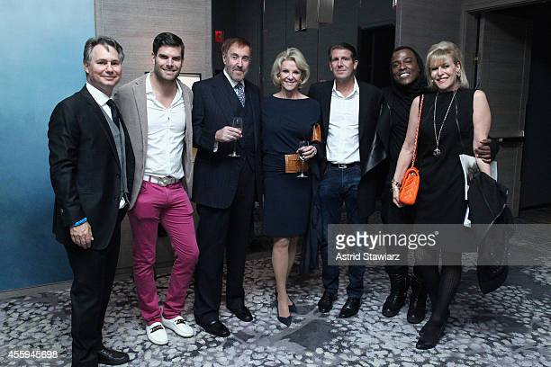 Jason Binn Gideon Kimbrell Barry Slotnick Elaine Wynn Michael Capponi WonG and Sue Phillips attend Jason Binn's DuJour Magazine celebration of Lenny...