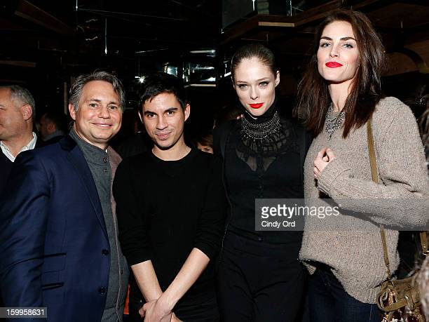 Jason Binn guest Coco Rocha and Hilary Rhoda attend DuJour Magazine Gala with Coco Rocha and Nigel Barker presented by TW Steel at Scott Sartiano and...