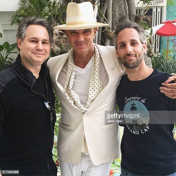 Jason Binn Hotelier Alan Faena and Seth Browarnik circa February 2016 in Miami FL