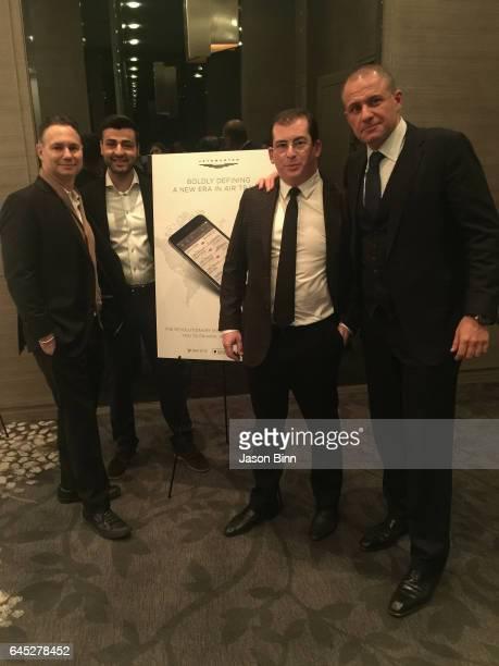 Jason Binn, JetSmarter CEO Sergey Petrossov, JetSmarter Vice Chairman and President Gennady Barsky, JetSmarter CEO Ronn Torossian circa December 2016...