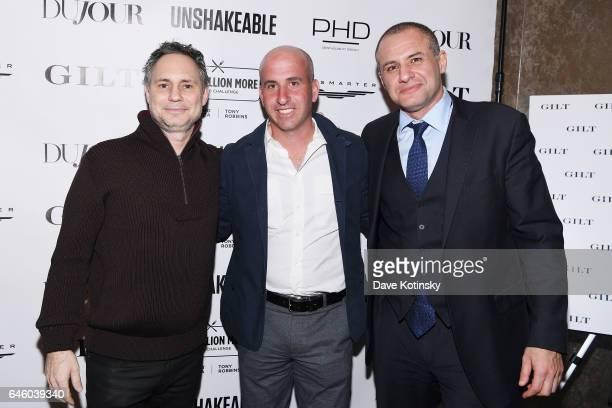 "Jason Binn, Jonathan Greller and Ronn Torossian attend Tony Robbins' Birthday celebration and book launch of ""UNSHAKEABLE"" presented by DuJour, Gilt..."