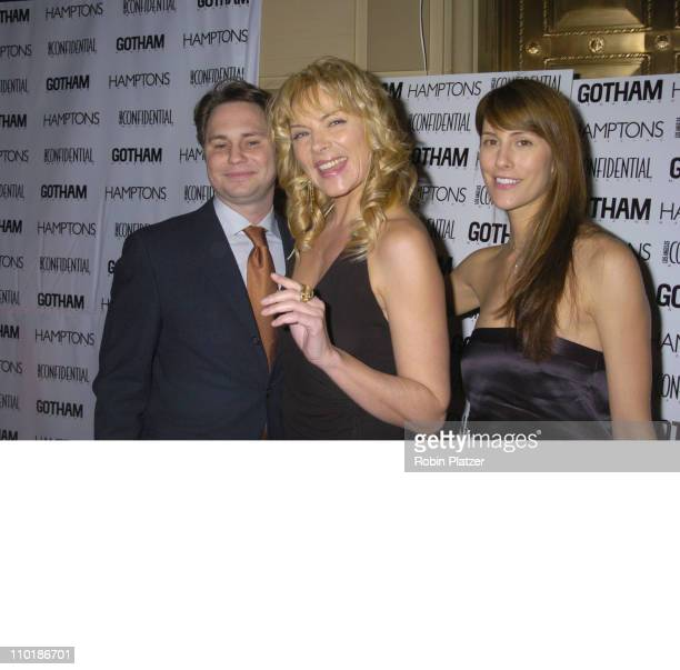 Jason Binn, Kim Cattrall and Cristina Cuomo during Gotham and LA Confidential Magazine Anniversary Party Hosted by Kim Cattrall at Gotham Hall in New...