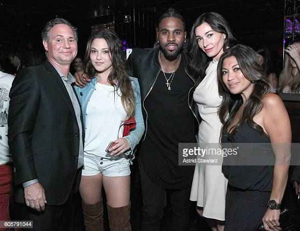 Jason Binn Lizzy Pergament Jason Derulo Dara Tomanovich and Charlene Sacks attend DuJour Media's Jason Binn and Gilt Celebration of fashion week with...
