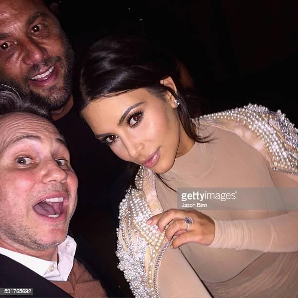 Jason Binn Owner of Komodo and LIV David Grutman and Kim Kardashian circa April 2016 in Miami Florida