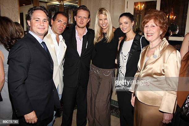 Jason Binn Richie Notar Edward Chapman Beth Ostrosky Stern Georgina Chapman and Evelyn Sommer attend the 2009 WIZO fashion show and luncheon at The...