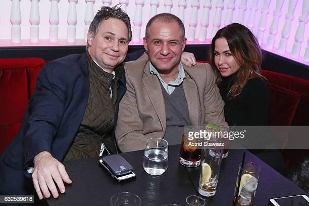 Jason Binn, Ronn Torossian and Rhonda Adams attend Jason Binn's birthday celebration at Megu at Dream Downtown on January 23, 2017 in New York City.