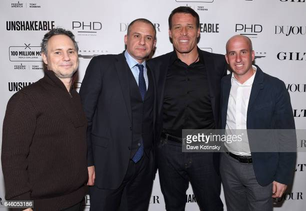 "Jason Binn, Ronn Torossian, Tony Robbins and Jonathan Greller attend Tony Robbins' Birthday celebration and book launch of ""UNSHAKEABLE"" presented by..."