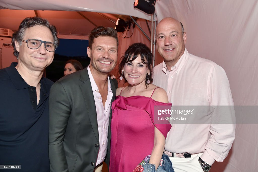 Jason Binn, Ryan Seacrest, Lisa Pevaroff-Cohn and Gary Cohn attend Sixth Annual Hamptons Paddle and Party for Pink Benefitting the Breast Cancer Research Foundation at Fairview on Mecox Bay on August 5, 2017 in Bridgehampton, NY.