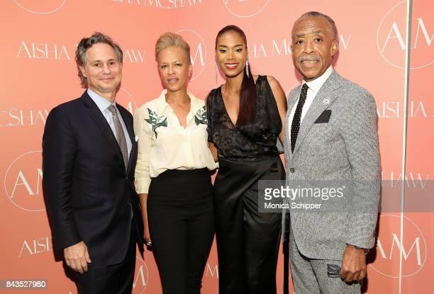Jason Binn Tonya Lewis Lee designer Aisha McShaw and Al Sharpton attend the Aisha McShaw Women's Ready to Wear Spring/Summer '18 Collection fashion...
