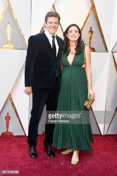 Jason Blum and Lauren Schuker attend the 90th Annual Academy Awards at Hollywood Highland Center on March 4 2018 in Hollywood California