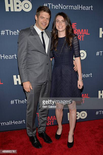 Jason Blum and Lauren Schuker Blum attend the New York premiere of The Normal Heart at Ziegfeld Theater on May 12 2014 in New York City
