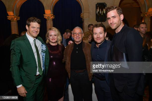 Jason Blum Elisabeth Moss Ron Meyer Leigh Whannell and Oliver JacksonCohen premiere of Universal Pictures' The Invisible Man on February 24 2020 in...