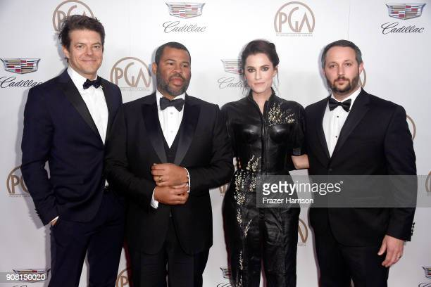 Jason Blum Jordan Peele Allison Williams and Sean McKittrick attend the 29th Annual Producers Guild Awards at The Beverly Hilton Hotel on January 20...