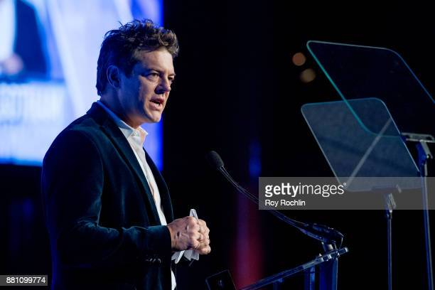 Jason Blum speaks onstage during IFP's 27th Annual Gotham Independent Film Awards at Cipriani Wall Street on November 27 2017 in New York City
