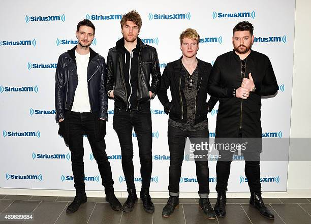Jason Boland, Mark Prendergast, Steve Garrigan and Vinny May of Irish rock band Kodaline visit SiriusXM Studios on April 13, 2015 in New York City.