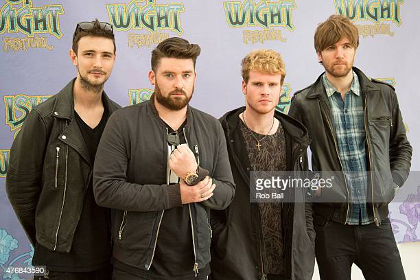 Jason Boland, Mark Prendergast, Steve Garrigan and Vinny May of Irish rock band Kodaline on Day 2 of the Isle of Wight Festival at Seaclose Park on...