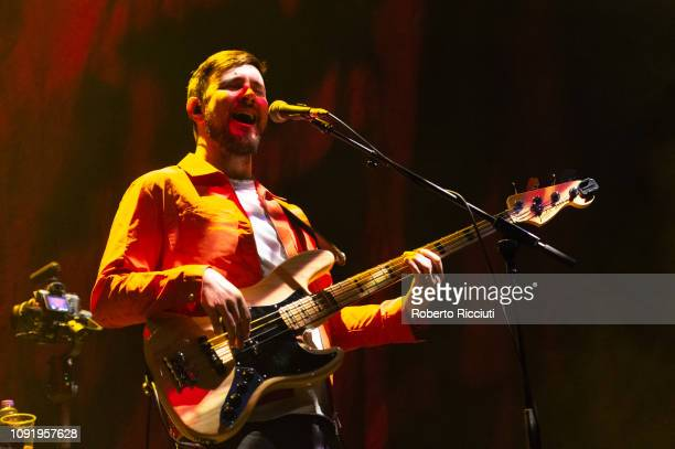 Jason Boland of Kodaline performs on stage at The SSE Hydro on January 31 2019 in Glasgow Scotland