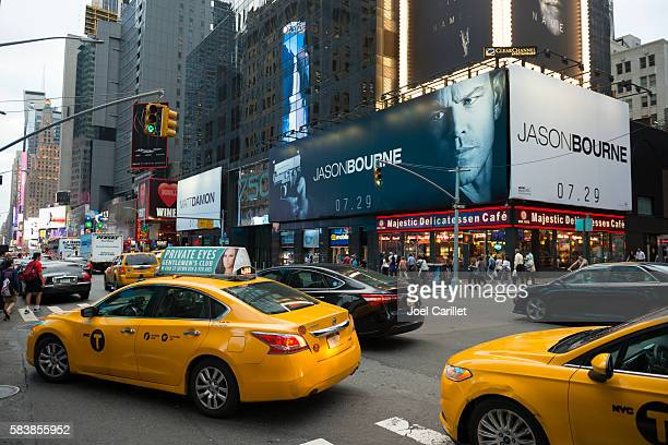 Jason Bourne movie ad in Times Square, New York City