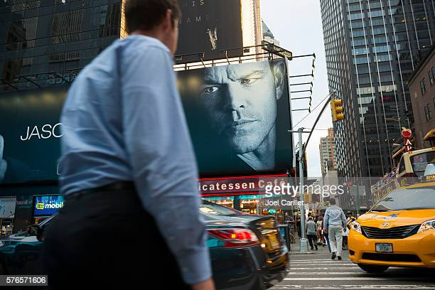 Jason Bourne movie billboard at New York City's Times Square