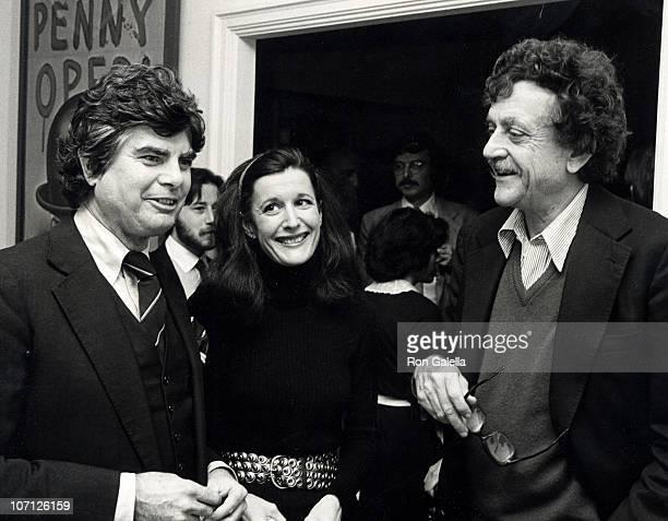 Jason Brady, Jill Krementz and Kurt Vonnegut during Jason Brady Book Party - January 22, 1980 at Sherry Netherlande in New York City, New York,...