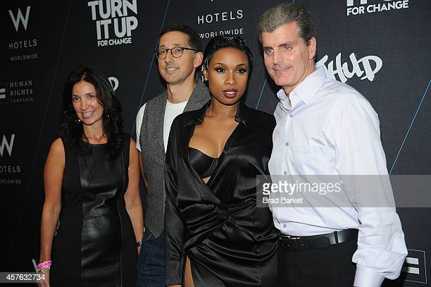 Jason Bricker Suzanne Cohen Anthony Ingham Jennifer Hudson and Dave Marr attend the W Hotels 'TURN IT UP FOR CHANGE' Ball at W Union Square on...