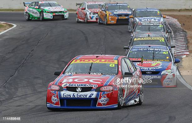 Jason Bright drives the Team BOC Holden during race 11 for round five of the V8 Supercar Championship Series at Winton Raceway on May 22 2011 in...