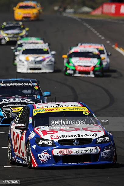 Jason Bright drives the Team BOC Holden during the Bathurst 1000 which is round 11 and race 30 of the V8 Supercars Championship Series at Mount...