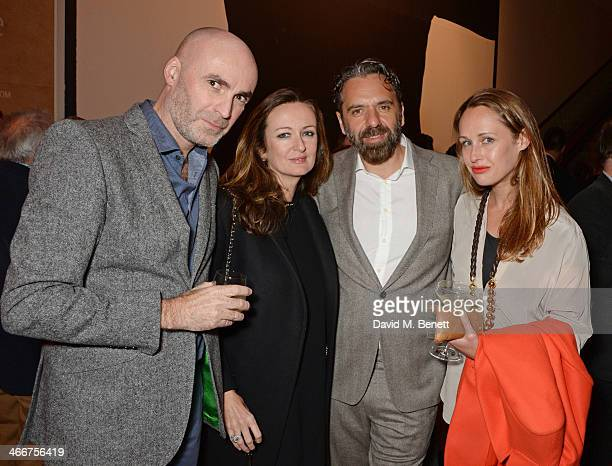 Jason Brooks, Lucy Yeomans, Keith Tyson and Viola Fort attend a private view of Bailey's Stardust, a exhibition of images by David Bailey supported...