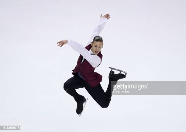 Jason Brown competes in the Championship Men Short Program during Day 2 of the 2018 Prudential US Figure Skating Championships at SAP Center at SAP...