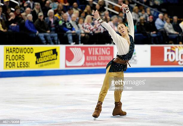 Jason Brown competes in the Championship Men's Free Skate Program Competition during day 4 of the 2015 Prudential US Figure Skating Championships at...