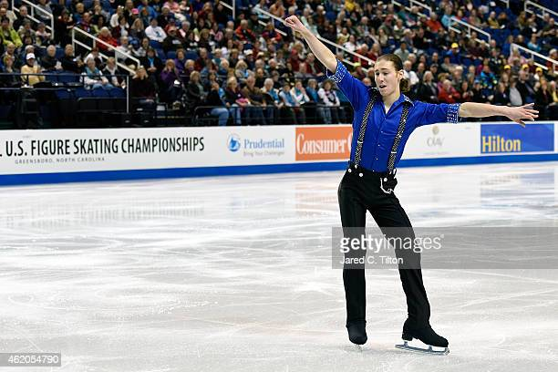 Jason Brown competes in the Championship Men's Short Program Competition during day 2 of the 2015 Prudential US Figure Skating Championships at...