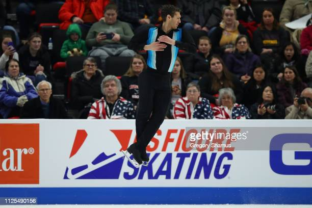 Jason Brown competes in the men's championship free skate during the 2019 US Figure Skating Championships at Little Caesars Arena on January 27 2019...