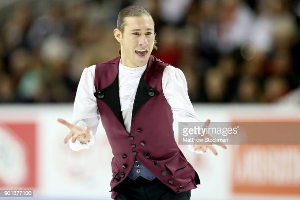 Jason Brown competes in the Men's Short Program during the 2018 Prudential US Figure Skating Championships at the SAP Center on January 4 2018 in San...