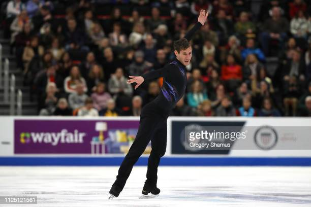 Jason Brown competes in the mens short program during the 2019 US Figure Skating Championships at Little Caesars Arena on January 26 2019 in Detroit...
