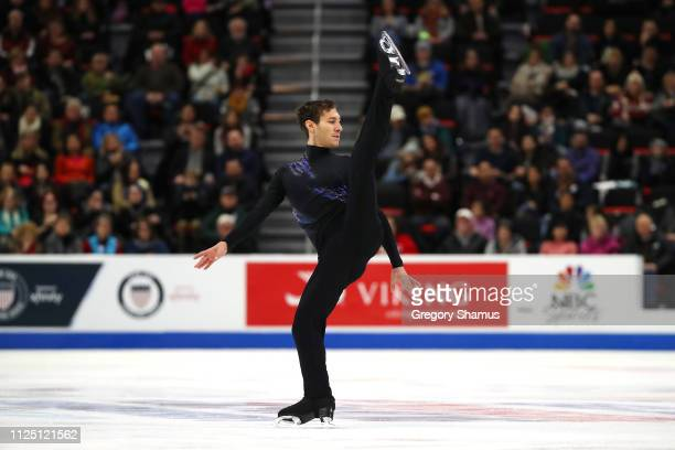 Jason Brown competes in the mens short program during the 2019 U.S. Figure Skating Championships at Little Caesars Arena on January 26, 2019 in...