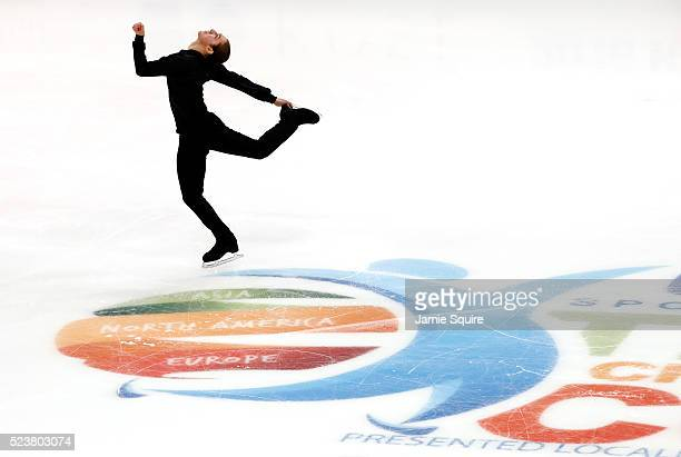 Jason Brown of Team North America competes in the Men's Free Program on day 2 of the 2016 KOSE Team Challenge Cup at Spokane Arena on April 23 2016...