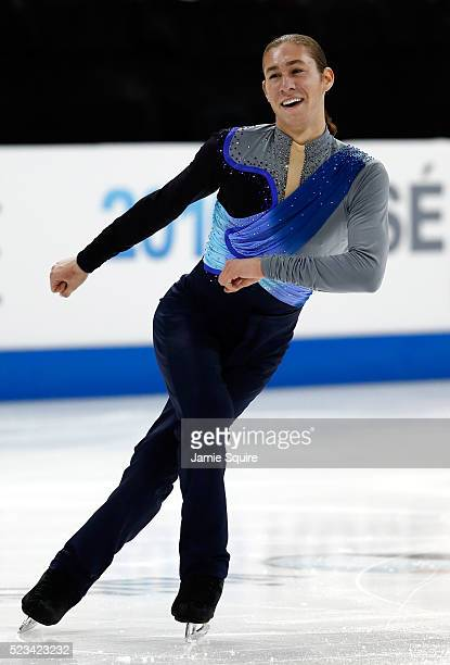 Jason Brown of Team North America competes in the Men's Singles Short Program on day 1 of the KOSE Team Challenge at Spokane Arena on April 22 2016...